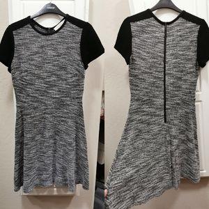 LOFT A-line knit dress with zip in size 4